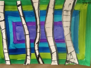 cool color 3rd grade birch tree