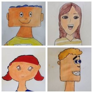 6th grade cartoon portraits