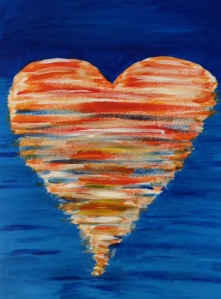 acrylic brush stroke heart