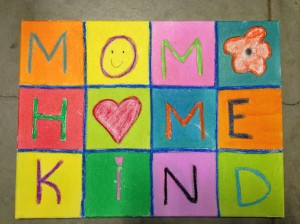 Kinder mothers day art project