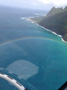 Rainbow under helicopter