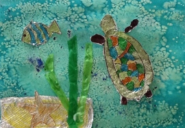 third grade foil fish art lesson