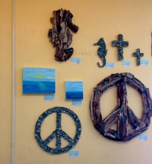 art display at seascape foods