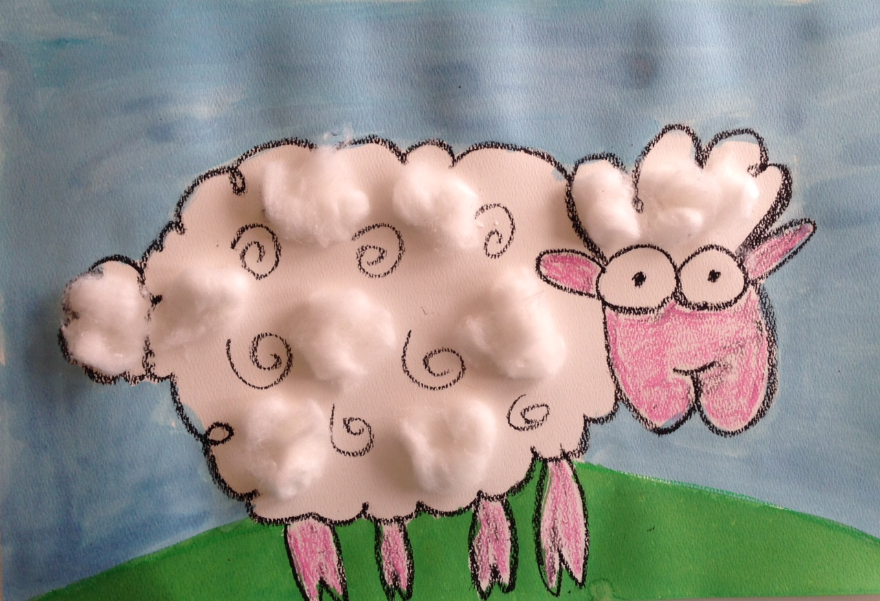Christmas Craft Ideas For 2nd Graders Part - 18: Sheep Art Lesson