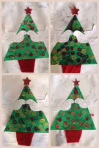 kinder christmas tree art lesson
