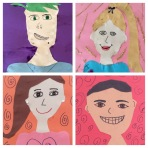 fourth grade paper portraits