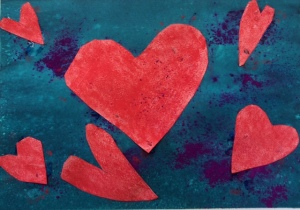 fourth grade valentine art project