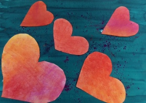 happy hearts art lesson2