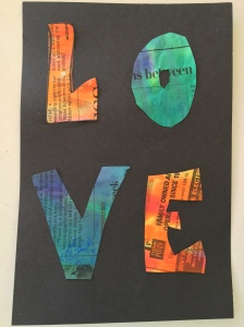 watercolor newspaper love